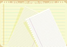 Notebook paper background vector