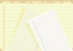 Notebook Papier Hintergrund Vektor