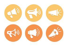 Megáfono icono vectores