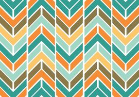 Colorful funky chevron pattern vector