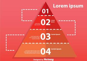 Four Step Pyramid Chart vector