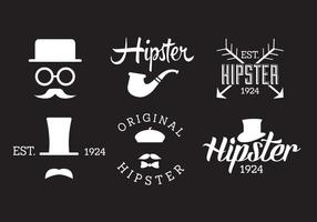 Set van Hipster Labels