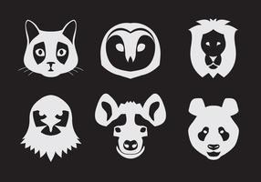 Vector Conjunto de retratos de animales