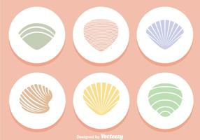 Shells Colors Icons vector