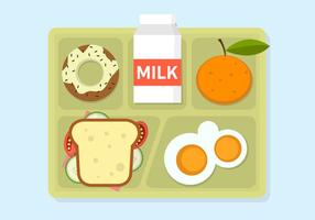 Vector Illustration of School Lunch