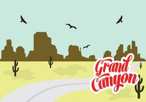Vektor illustration av Grand Canyon