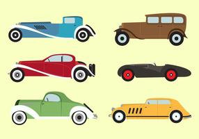 Vector Set of 1930s Vechicles