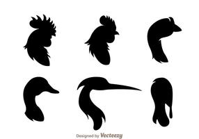 Fowl Head Silhouette vector