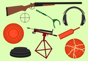 Set of Clay Pigeon Equipment