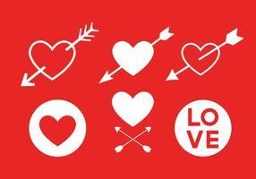 Ícones do vetor do amor