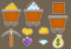 Gold Mine Icon Assets vector
