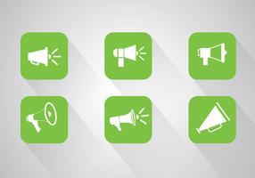 Megaphone icon vectors