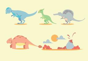 Dinosaurus Vector Set