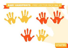 Baby handprints gratis vektor pack vol. 2