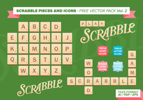Scrabble Pieces And Icons Free Vector Pack