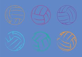 Illustration vectorielle gratuite de volleyball