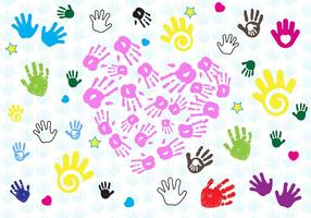 Free Baby Hand Print Vector