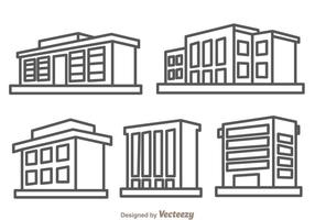 Townhomes Outline Isolated