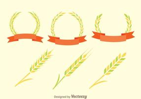 Ear Of Corn Decoration Vectors