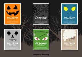 Halloween flyers vector