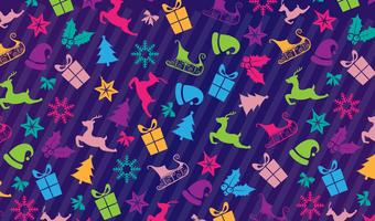 Christmas icons pattern