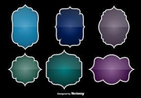 Etiquetas brilhantes coloridas