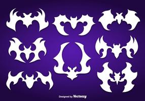Siluetas de murciélagos blancos