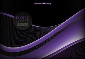 Vector de onda púrpura abstracta
