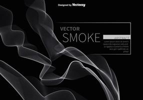 Abstract white smoke vector