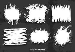 White grunge banner vectors