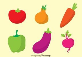 Vegetable Colors Icons vector