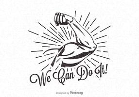 Vector We Can Do It Retro Poster