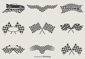 Gratis Vector Racing Vlaggen