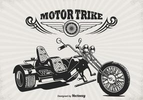 Cartel retro del vector de Trike del motor retro