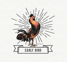 Logo do vetor do Early Bird gratuito
