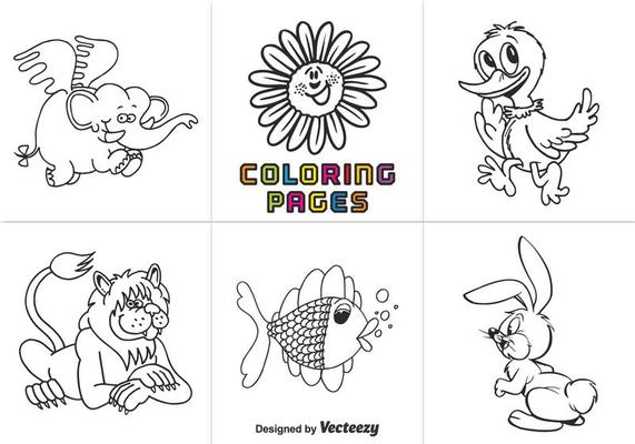 - Free Animal Coloring Pages Vector - Download Free Vectors, Clipart Graphics  & Vector Art