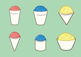 Free Snow Cone Cup Vector Illustration