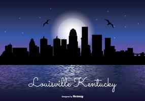 Louisville kentucky natt skyline