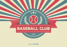 Retro Stijl Honkbal Club Illustratie