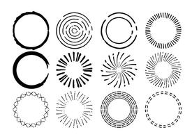 Hand getrokken Circle Shape Set