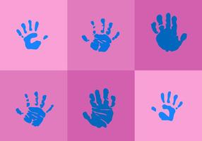 Baby Handdruck Vektoren