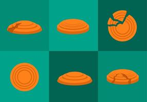 Clay Pigeon Vectors