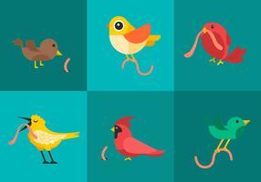 Vecteurs d'oiseaux précoce