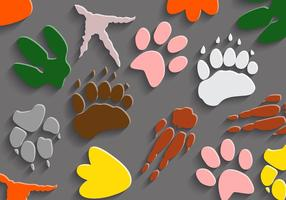 Gratis Dinosaurus Footprints Vector