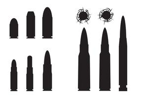Free Bullets And Bullets Hole Vector