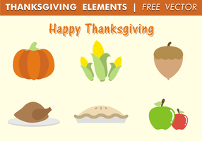 Éléments de Thanksgiving Free Vector
