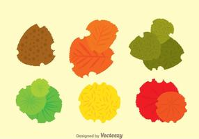 Plant Top View Set vector