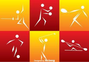 Conjunto de iconos de deporte