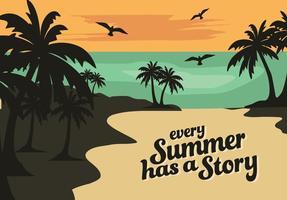 Fundo de vector de verão gratuito