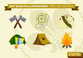 Pojke Scouts Illustrationer Gratis Vector Pack